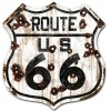 Route 66 Historic Metal Sign