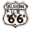 Oklahoma Route 66 Vintaged Metal Sign