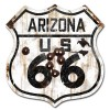 Arizona Route 66 Vintaged Metal Sign