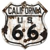 California Route 66 Vintaged Metal Sign