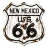 New Mexico Route 66 Vintaged Metal Sign