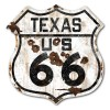 Texas Route 66 Vintaged Metal Sign
