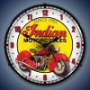 Indian Motorcycle Lighted Retro Clock