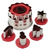 Cake Boss Holiday Linzer Cookie Cutter Set, Red